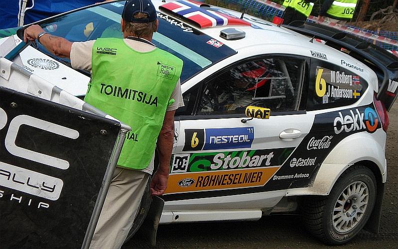 Mads Östberg Fordilla Suomen MM-rallissa 2011 (Kuva: Jari Hotti)