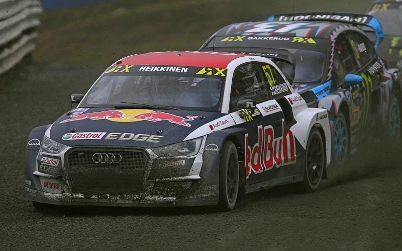 Semifinaalissa Heikkinen oli toinen saavuttaen kauden kolmannen finaalipaikkansa (Kuva: Audi Mediacenter).