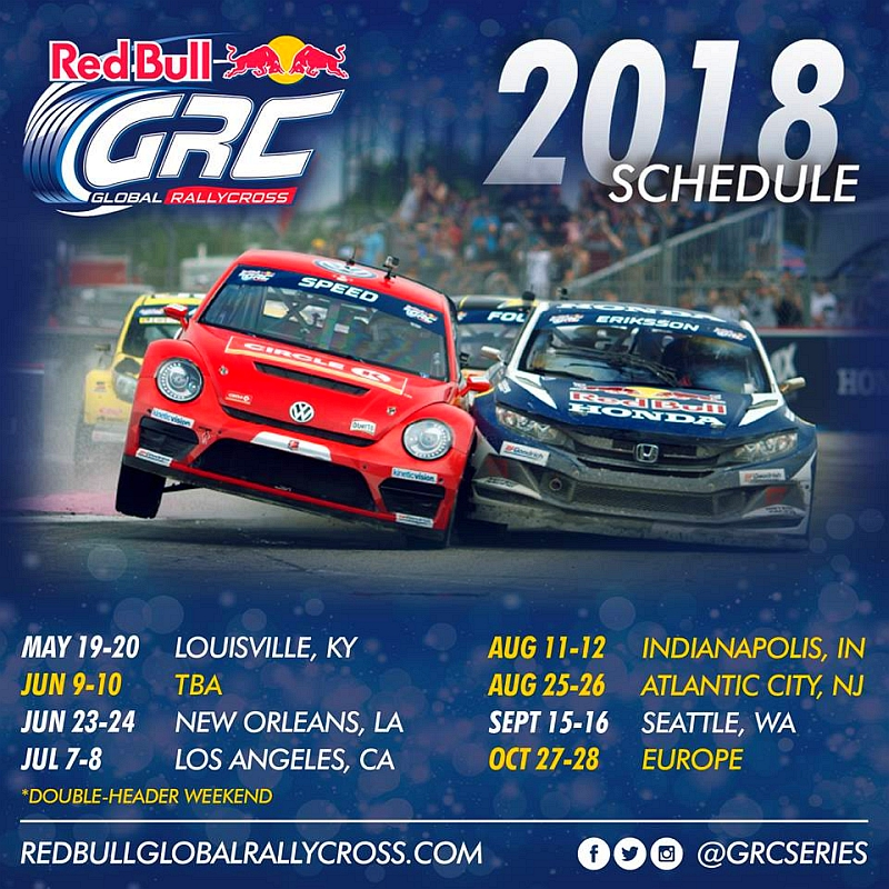 GRC 2018 kalenteri