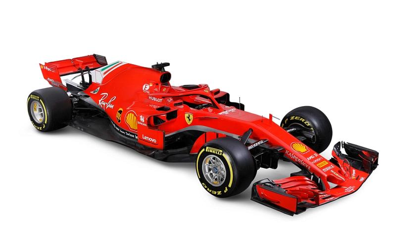 Sebastien Vettelin ja Kimi Räikkösen työkalu kantaa nimeä Ferrari SF71H (Kuva: Ferrari).