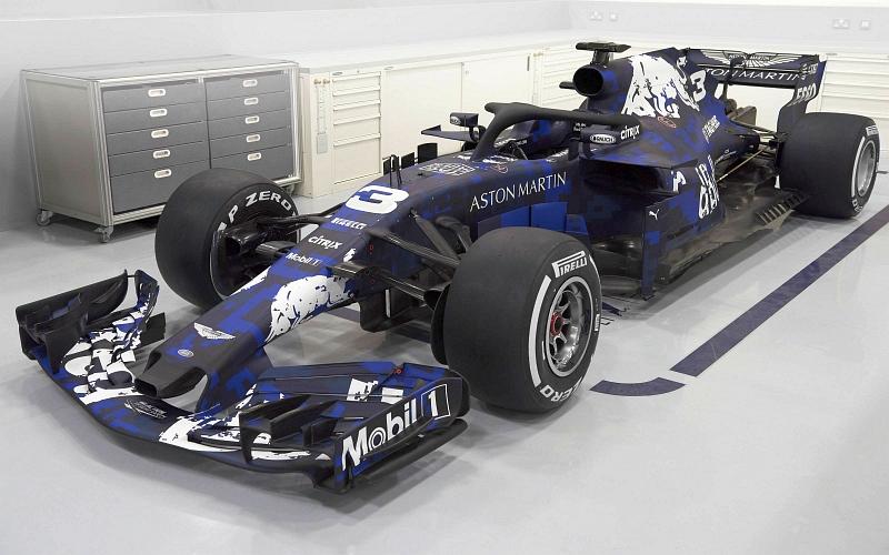 F1-fanit ilahtuivat tästä Red Bullin värityksestä (Kuva: David Clerihew / Red Bull Content Pool).