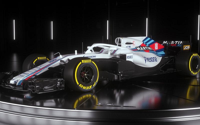 Williamsin kuljettajakaksikon muodostavat Lance Stroll, sekä Sergei Sirotkin (Kuva: Williams).